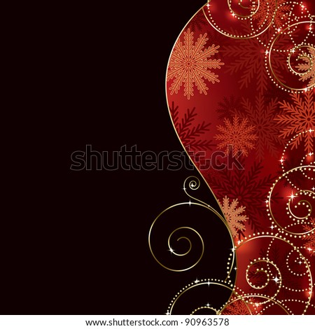 holiday background (also available jpeg version) - stock vector