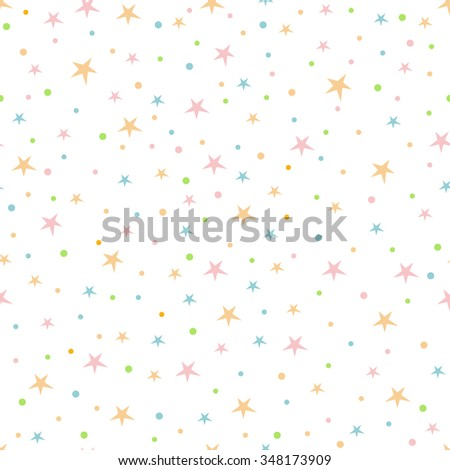 Holiday background, seamless pattern with stars, star pattern, star decorations. EPS10 vector illustration.  - stock vector