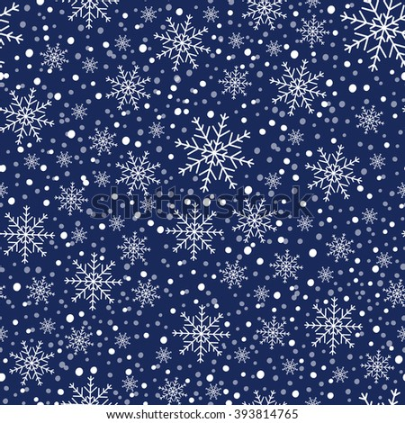 Holiday background, snowflake background, snowflake pattern, snowflake template, snowflake decorations, Christmas Decoration, seamless winter background with snowflakes. EPS10 vector illustration. - stock vector