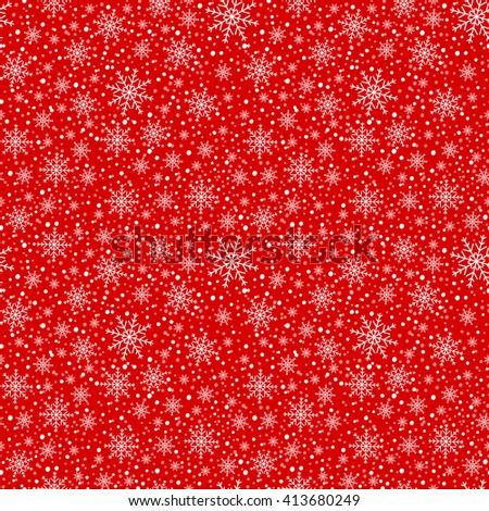 Holiday background, snowflake pattern, Christmas Decoration, seamless winter background with snowflakes. - stock vector