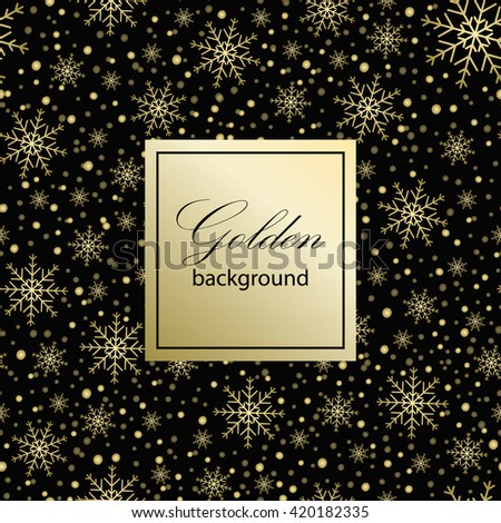 Holiday background, snowflake pattern, Christmas Decoration, winter background with snowflakes. - stock vector