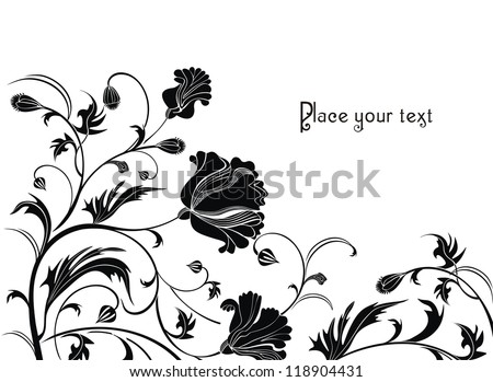 holiday background with poppy flowers - ready to place your art or text