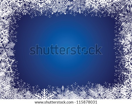 Holiday Blue Background - stock vector