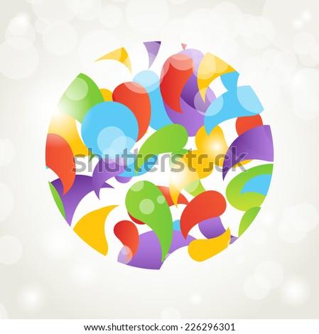 Holiday card with abstract christmas ball - stock vector