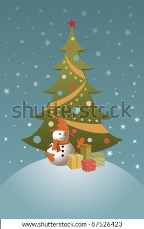 Holiday Christmas Card vector illustration