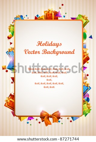 Holiday design. - stock vector