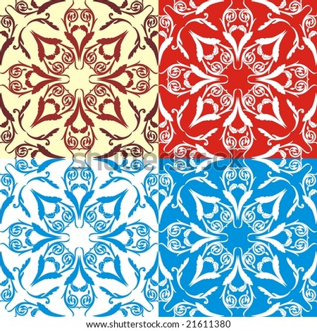 Holiday floral background pattern.Original vector illustration inspired by classical ornaments