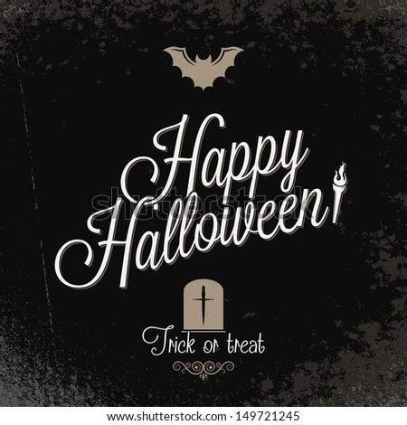 holiday - frame happy halloween - stock vector