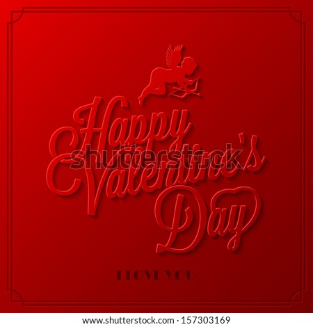 holiday frame happy valentines day - stock vector