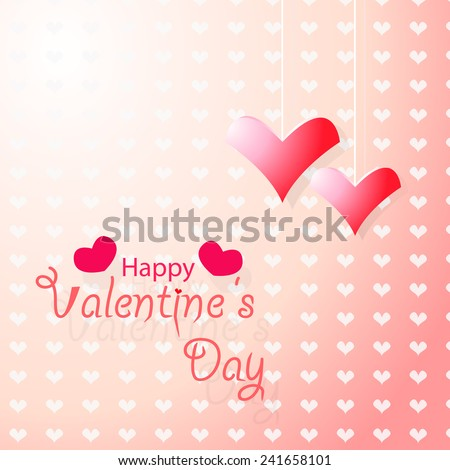 holiday frame happy valentines day on pink background,eps10 - stock vector