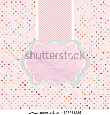 Holiday frame with tag, polka dot template. And also includes EPS 8 vector