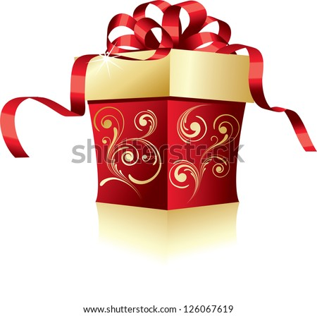 Holiday gift - stock vector