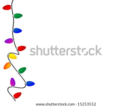 Holiday light border - stock vector