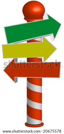 Holiday sign pole vector.editable. - stock vector