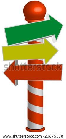 Holiday sign pole vector.editable. - stock vector