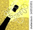 Holiday sparks of a champagne, vector illustration - stock vector