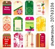 Holiday tags - stock vector