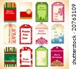 Holiday tags 2 - stock vector