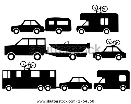 Holiday transportation recreation vehicles towing caravans and boats