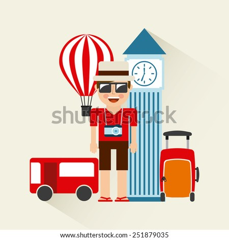 holiday travel design, vector illustration eps10 graphic  - stock vector