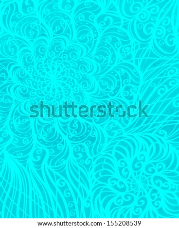 Holiday winter background with floral pattern - vector