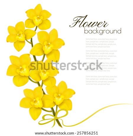 Holiday yellow flowers background. Vector. - stock vector
