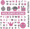 holidays icons, signs, vector illustrations - stock vector