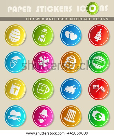 Holidays simply symbol for web icons and user interface
