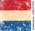 Holland retro flag - stock photo