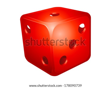 Hollow die isolated on white background - stock vector