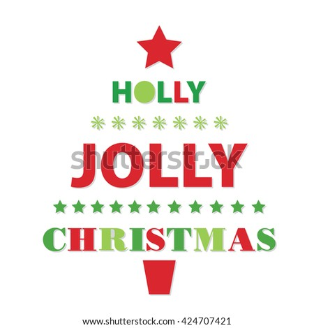 Holly Jolly Christmas design - stock vector