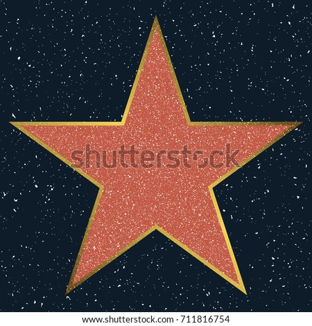 hollywood walk fame star blank template stock vector