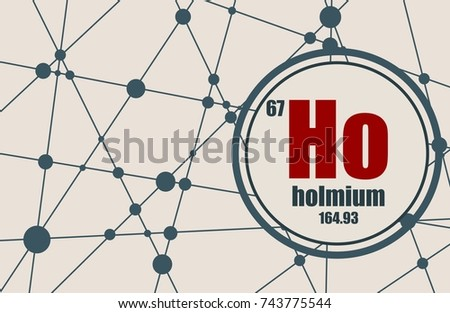 Holmium Chemical Element Sign Atomic Number Stock Vector 743775544