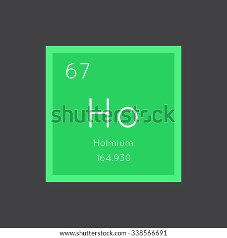 Holmium simple style tile icon. Chemical element of periodic table. Vector illustration EPS8
