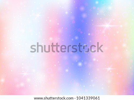 Hologram Background Rainbow Mesh Girlie Universe 스톡 벡터 ...