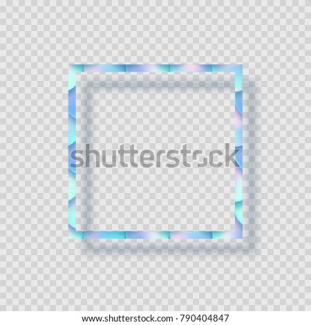 Holographic Color Foil Texture Frame Vector Stock Vector HD (Royalty ...