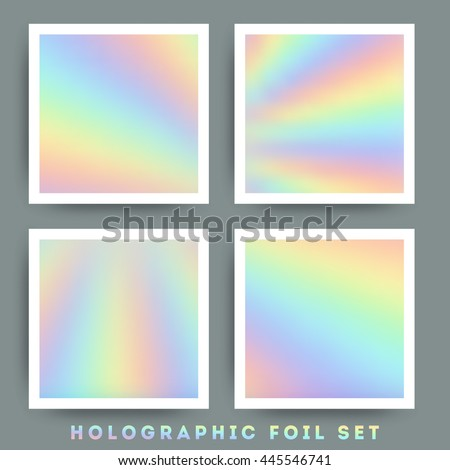 Holographic foil vector illustration  - stock vector