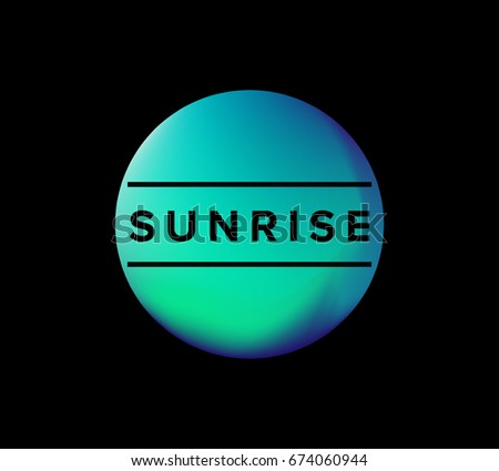 Holographic Round Frame Trendy Backdrop Logos Stock Photo (Photo ...