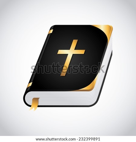 holy bible graphic design , vector illustration - stock vector