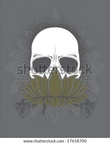 holy flower - stock vector
