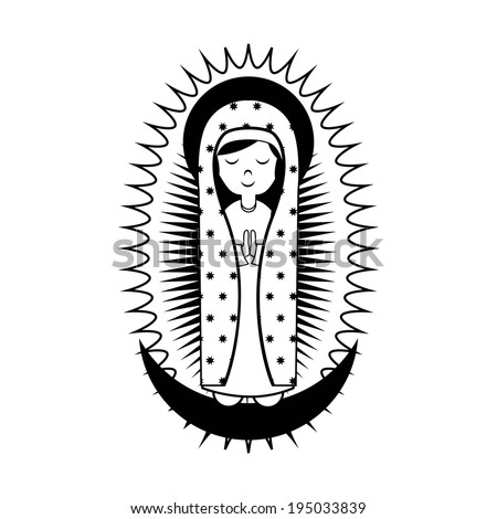 Holy Mary design over white background, vector illustration - stock vector
