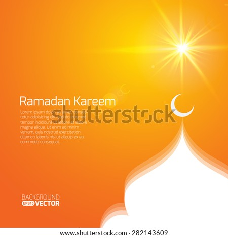 holy month of muslim community Ramadan Kareem - stock vector
