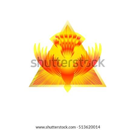 Holy Spirit Symbol White Dove Halo Stock Vector Royalty Free
