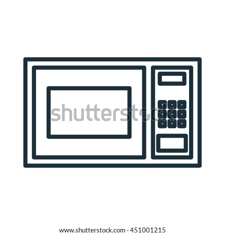 Home appliance microwave isolated flat icon, vector illustration graphic. - stock vector