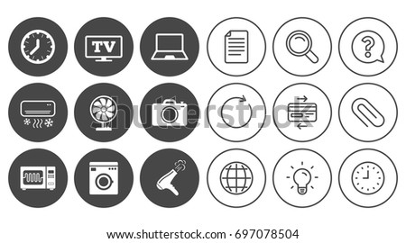 Home Appliances Device Icons Electronics Signs Stock Vector ...