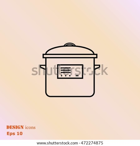 Home appliances icon. pan icon. Vector illustration.