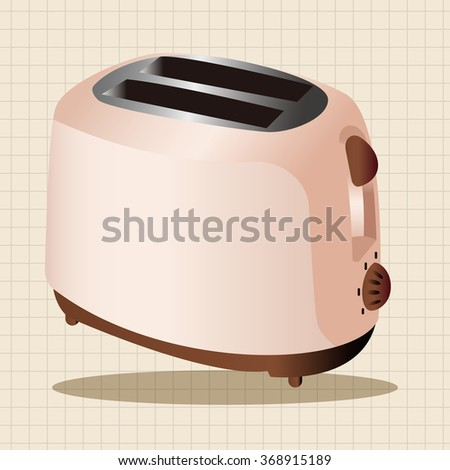 Home appliances theme toaster elements
