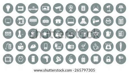 Home appliances vector icons - stock vector