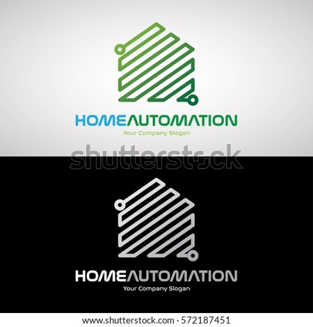 Home Automation Logo Design For Software House, Electronic Company. Vector  Logo Template.