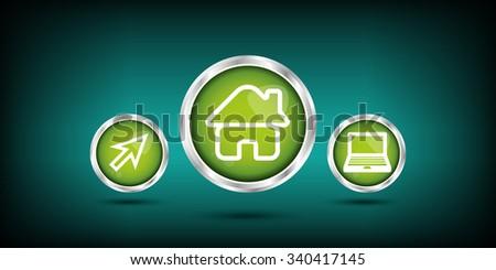 home button - stock vector